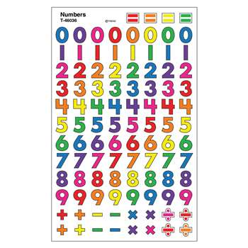 Sticker Number Supershapes By Trend Enterprises