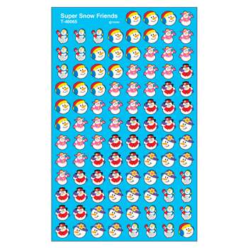 Supershapes Stickers Snow Friends By Trend Enterprises