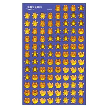 Supershapes Stickers Teddy Bears By Trend Enterprises