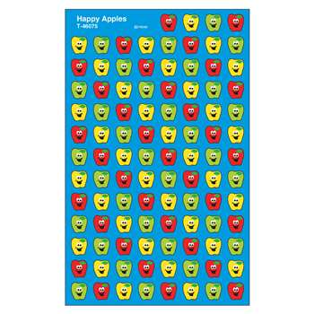 Happy Apples Supershape Superspots/Shapes Stickers By Trend Enterprises