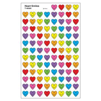 Heart Smiles Supershape Superspots Shapes Stickers By Trend Enterprises