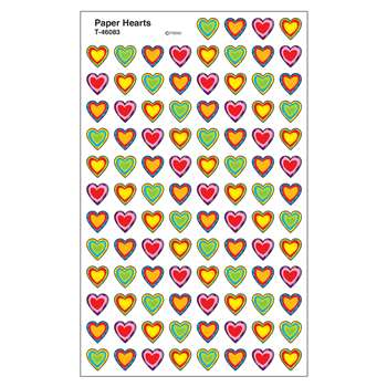 Paper Hearts Supershape Superspots Shapes Stickers By Trend Enterprises