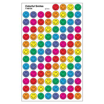 Superspots Stickers Colorful 800/Pk Smiles Acid-Free By Trend Enterprises
