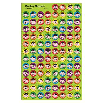 Monkey Mayhem Superspot Shapes Stickers By Trend Enterprises