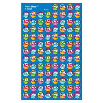 Owl Stars 800Pk Super Spots Stickers By Trend Enterprises