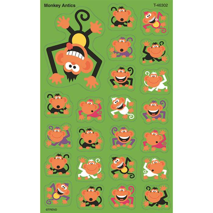 Supershapes Monkey Antics 184-208Pk Larger Size By Trend Enterprises