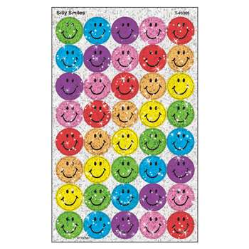 Superspots Sparkle Silly 60-180/Pk Smiles1 Larger Size By Trend Enterprises