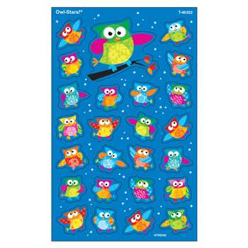 Owl Stars Supershapes Stickers Large By Trend Enterprises