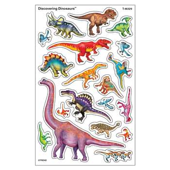Discovering Dinosaurs Supershapes Stickers Large, T-46329