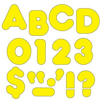 Ready Letters 4 Inch Casual Yellow By Trend Enterprises