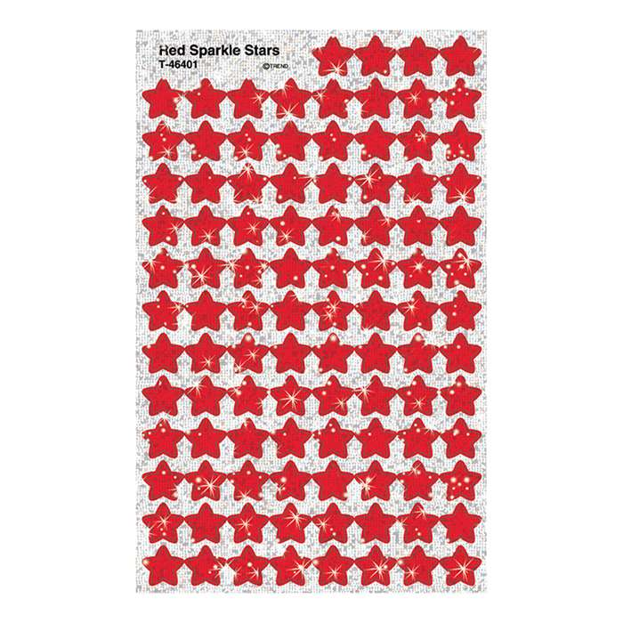 Supershapes Red Sparkle Stars 400Pk By Trend Enterprises