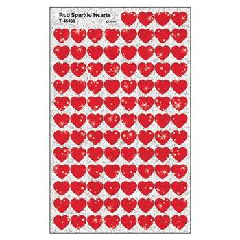 Supershapes Red Sparkle 400/Pk Hearts By Trend Enterprises