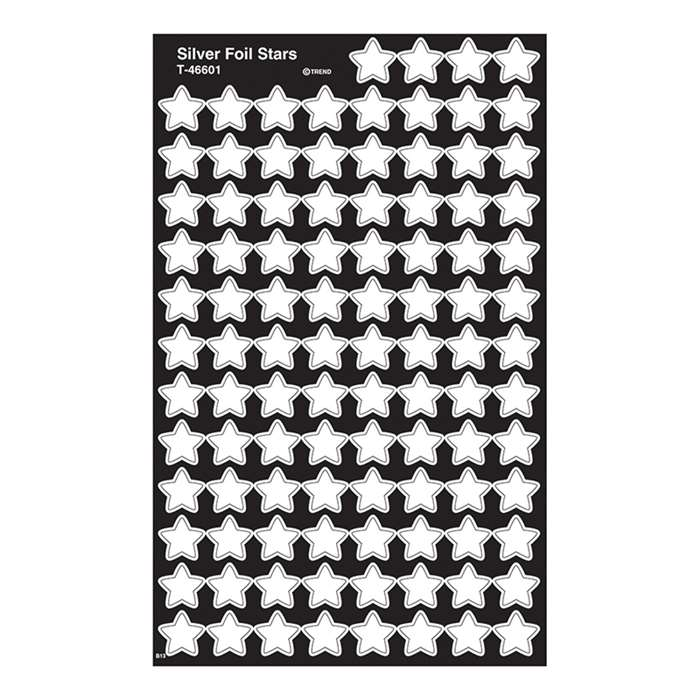 Supershapes Silver Foil Stars By Trend Enterprises
