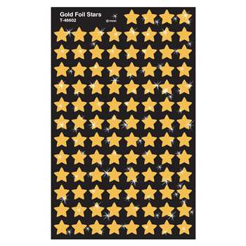 Supershapes Gold Foil Stars By Trend Enterprises