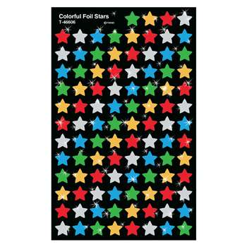 Supershapes Colorful Foil Stars By Trend Enterprises
