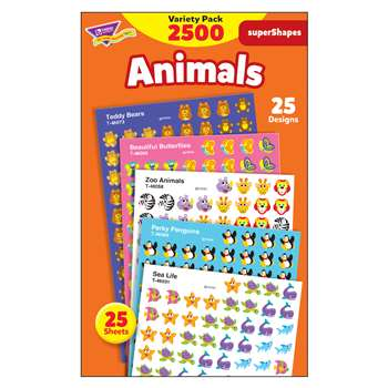 Supershapes Variety Animals 2200Pk By Trend Enterprises