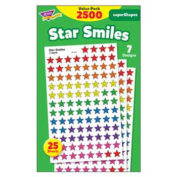 Star Smiles Value Pk Superspots Shapes Stickers By Trend Enterprises