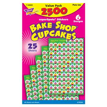 Bake Shop Cupcakes Superspots Stickers Value Pk By Trend Enterprises