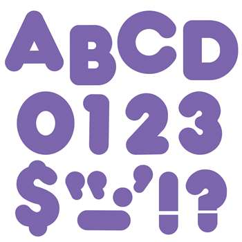 Ready Letters 4 Inch Casual Purple By Trend Enterprises