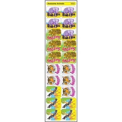 Applause Stickers Awesome Animals By Trend Enterprises