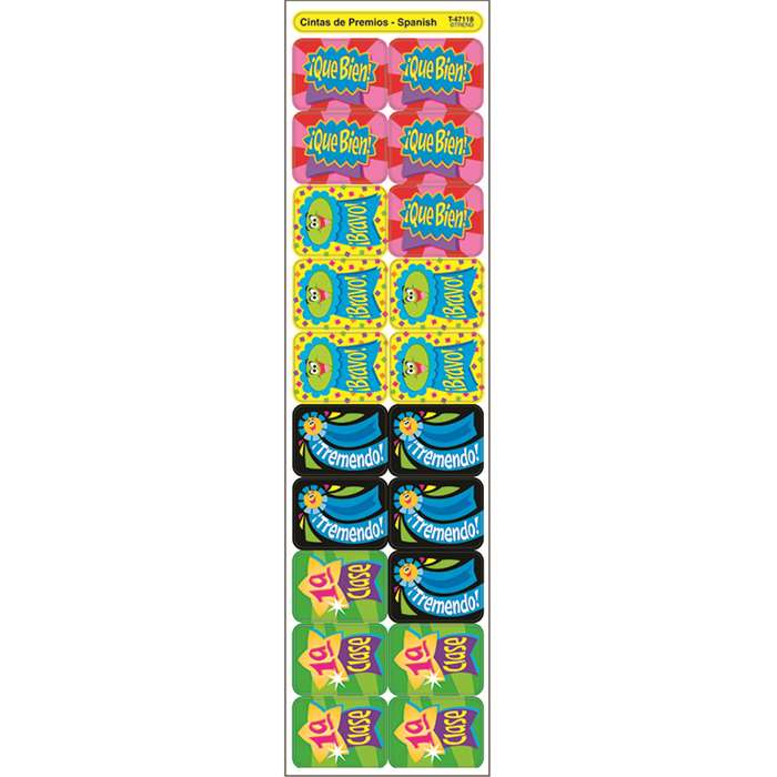 Applause Stickers Spanish Ribbons By Trend Enterprises