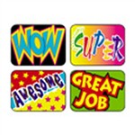 Applause Stickers Wow 100/Pk Words Acid-Free By Trend Enterprises