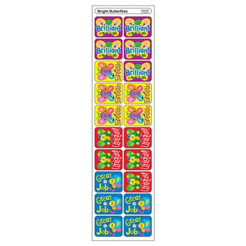 Applause Stickers Bright 100/Pk Butterflies Acid-Free By Trend Enterprises