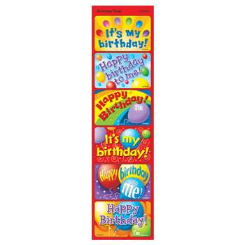 Applause Stickers Birthday 30/Pk Time Acid-Free Larger Size By Trend Enterprises