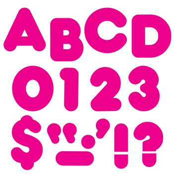 Ready Letters 4 Inch Casual Deep Pink By Trend Enterprises