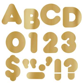 Ready Letters 4 Casual Metal. Gold By Trend Enterprises