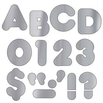 Ready Letters 4 Casual Metallic Silver By Trend Enterprises