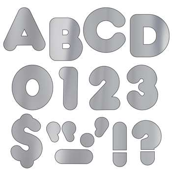 Ready Letters 2 Casual Metallic Silver By Trend Enterprises
