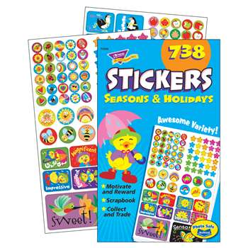 Sticker Pad Seasons & Holidays By Trend Enterprises