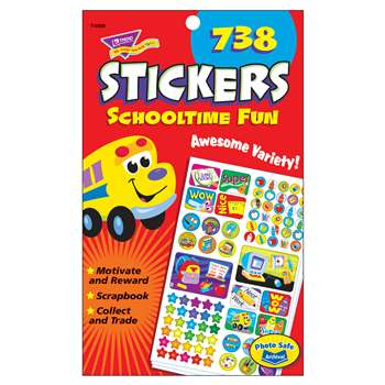 Sticker Pad Schooltime Fun By Trend Enterprises
