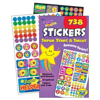 Sticker Pad Super Stars & Smiles By Trend Enterprises