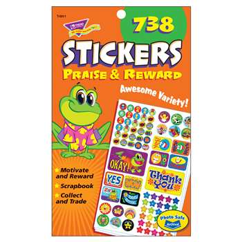 Praise & Reward Spd Sticker Pads By Trend Enterprises