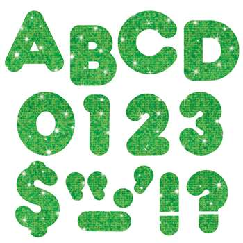 Ready Letters 2 Inch Casual Green Sparkle By Trend Enterprises