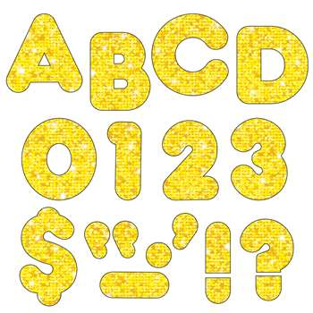 Ready Letters 2 Casual Yellow Sparkle By Trend Enterprises
