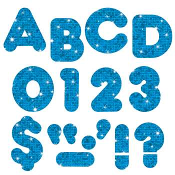 Ready Letters 2 Inch Casual Blue Sparkle By Trend Enterprises
