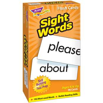 Flash Cards Sight Words 96/Box By Trend Enterprises