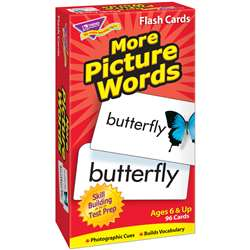 Flash Cards More Picture 96/Box Words By Trend Enterprises