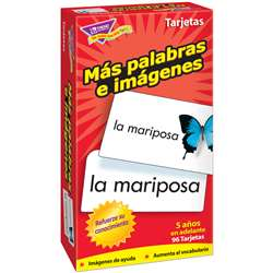 Flash Cards Mas Palabras E 96/Box Imagenes By Trend Enterprises