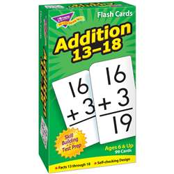Flash Cards Addition 13-18 99/Box By Trend Enterprises