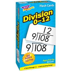Flash Cards Division 0-12 91/Box By Trend Enterprises