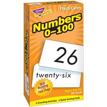 Flash Cards Numbers 0-100 101/Box By Trend Enterprises