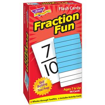 Flash Cards Fraction Fun 96/Box By Trend Enterprises