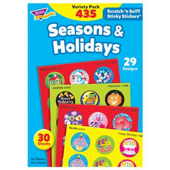 Stinky Stickers Seasons & 432/Pk Holidays Jumbo Variety By Trend Enterprises