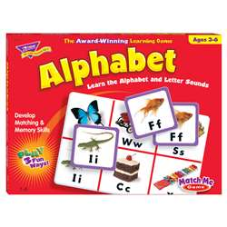 Match Me Game Alphabet Ages 3 & Up 1-8 Players By Trend Enterprises