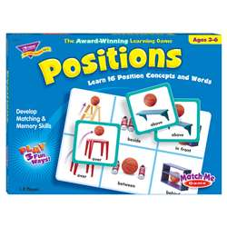 Match Me Game Positions Ages 3 & Up 1-8 Players By Trend Enterprises