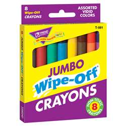 Wipe-Off Crayons Jumbo 8/Pk By Trend Enterprises